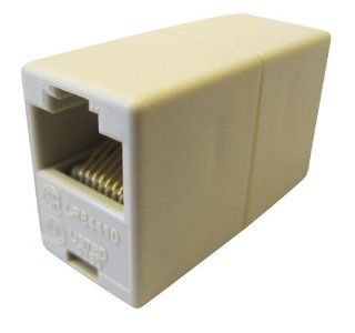 Allen Tel AT210 8 PP 8 Conductor, 8 Position, Wired Pin To Pin In Line Coupler, Ivory   Close To Ceiling Light Fixtures