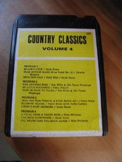 Country Classics featuring Hank Snow, Jimmie Rodgers, Bob Willis, Eddy Arnold, Slim Whitman Volume 4 (TW Records # 369   8 Track Tape)  Other Products