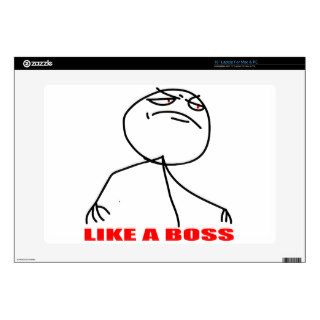 Like a boss meme face laptop decals