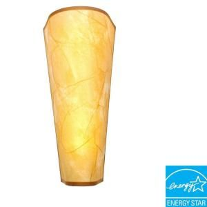 Its Exciting Lighting Wall Mount Tan Rice Paper Conical Shaped Battery Operated 5 LED Wall Sconce HC1000