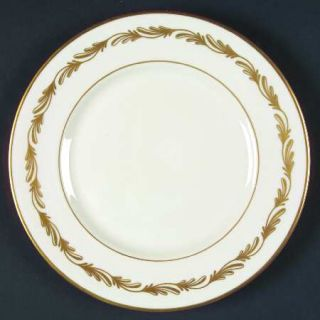Franciscan Arcadia Gold Salad Plate, Fine China Dinnerware   Gold Plumes, Gold T