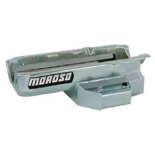 Moroso 21315 Oval Track Wet Sump Steel Oil Pan for Chevy Small Block Engines Automotive