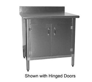 """Eagle Group T3036BA BS HGD X Work Table   Cabinet Kit & Hinged Doors, 36x30x34.5"""", 430 Stainless, Each Cookware Kitchen & Dining"""