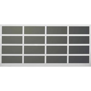 Martin Garage Doors David O. Martin Collection Athena Design 211 16 ft. x 7 ft. Aluminum Frosted Acrylic Windows White Garage Door HDIY 000932