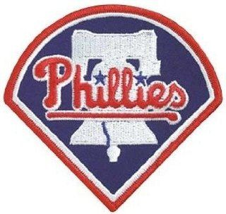 2 Patch Pack   Philadelphia Phillies Liberty Bell MLB Baseball Team Logo Patches  Sports Fan Sleeve Patches  Sports & Outdoors