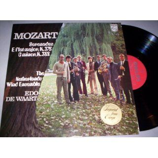 Mozart Serenades E flat major, K. 375 C minor, K. 388/The Netherlands Wind Ensemble/Edo de Waart   VINYL RECORD: Music