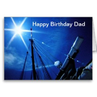 AT SEA HAPPY BIRTHDAY DAD GREETING CARD
