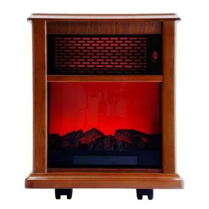 American Comfort Fireplace 1500 Watt Infrared Electric Portable Heater Solid wood Construction   Tuscan ACW0038WT