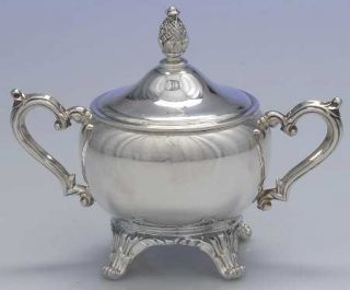 International Silver 2601 Sugar Bowl & Lid   Silverplate,Wm. Rogers & Son