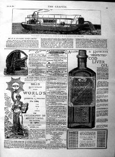 1884 LE STANLEY STEAM BOAT CONGO COD LIVER OIL CANOPY   Prints