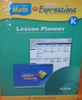 Houghton Mifflin Math Lesson Planner Cd Rom Lvl K (9780618697953) HOUGHTON MIFFLIN Books