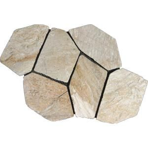 MS International Golden White 22 in. x 18 in. Meshed Flagstone Paver Tile (40 Pieces / 110 Sq. ft. / Pallet) LMESQGLDWHI275