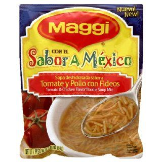 Maggi, Con El Sabor A Mexico Soup Mix, Tomato & Chicken Flavor Noodle, 2.96 Ounce Packets (Pack of 24) : Packaged Noodle Soups : Grocery & Gourmet Food
