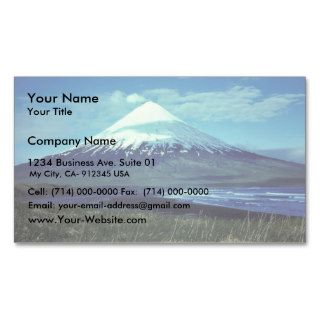 Mount Cleveland Volcano,Islands of Four Mountains, Business Card