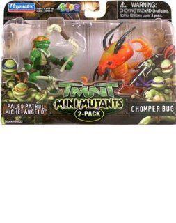 Mini Size Teenage Mutant Ninja Turtles Action Figure 2 Pack (Michelangelo)   Michelangelo and Chomper Bug Action Figures Toys & Games