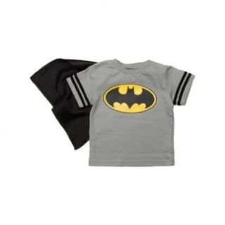 Batman Toddler Boys T Shirt with Cape (2T) Batman Shirt With Cape Kids Clothing