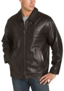 Claiborne by John Bartlett Men's New Zealand Lambskin Leather Open Bottom Jacket, Black, Small at  Men�s Clothing store