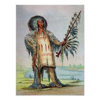 Mandan Indian Ha Na Tah Muah, Wolf chief Print
