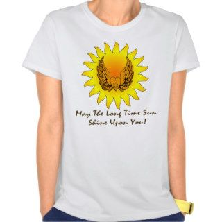 Long Time Sun Winged Heart Dark Lettering T Shirts