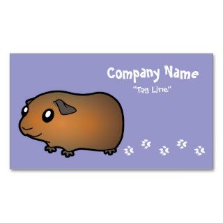 Cartoon Guinea Pig (brown) Business Cards
