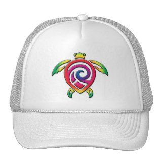 Rainbow Sea Turtle Tattoo Hat