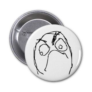 Angry Unhappy Meme Face Button