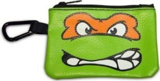 Teenage Mutant Ninja Turtles TMNT Michelangelo Orange Coin Card Zippered Pouch Clothing