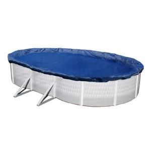 Dirt Defender 15 Year 18 ft. x 34 ft. Oval Royal Blue Above Ground Winter Pool Cover BWC934