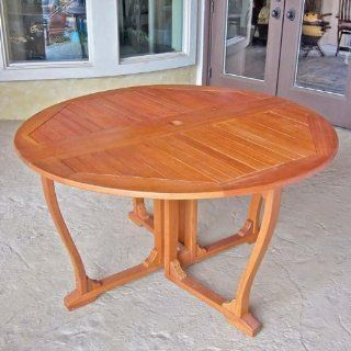 Royal Tahiti Round Gate Leg Table (Stain) (30H x 51W x 51D) : Patio Dining Tables : Patio, Lawn & Garden