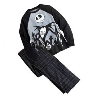Jack Skellington   Nightmare Before Christmas Men's Pajama Set (Small) at  Men�s Clothing store