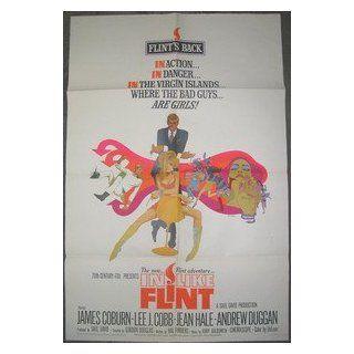 IN LIKE FLINT / ORIGINAL U.S. ONE SHEET MOVIE POSTER (JAMES COBURN) JAMES COBURN Entertainment Collectibles
