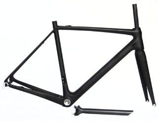Full Carbon UD Matt Road Bike Frame set : 52cm Frame Fork Seatpost : Road Bicycle Frames : Sports & Outdoors