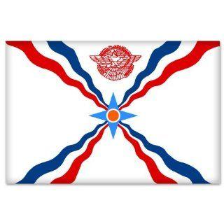"Assyrian Flag car bumper sticker window decal 5"" x 3"" Automotive"