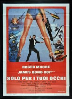 FOR YOUR EYES ONLY ITALIAN MOVIE POSTER 1981 JAMES BOND Entertainment Collectibles