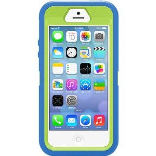 Otterbox Defender Case with Holster Clip for Iphone 5s & Iphone 5   Retail Packaging   Ocean Blue/glow Green