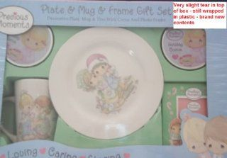 Precious Moments Mug, Plate & Frame Gift Set + 2 Cocoa Tins & from Christmas Holiday 2007  Baby Feeding Gift Sets  Baby