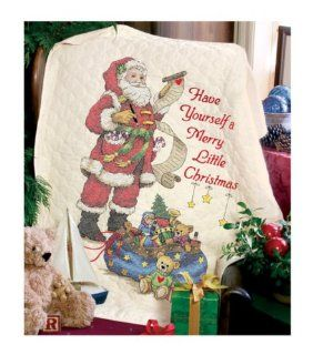 Dimensions Needlecrafts Stamped Cross Stitch, Merry Little Christmas Quilt