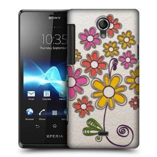 Head Case Designs Bunch Of Flowers Quilling Hard Back Case Cover For Sony Xperia T LT30P: Cell Phones & Accessories