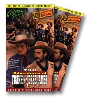 Adventures of Frank & Jessie James [VHS]: Clayton Moore, Steve Darrell, Noel Neill, George J. Lewis, Stanley Andrews, John Crawford, Sam Flint, House Peters Jr., Dale Van Sickel, Tom Steele, James Dale, I. Stanford Jolley, John MacBurnie, Fred C. Brann