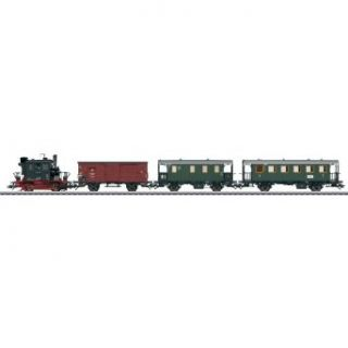 "Marklin HO Scale Steam Passenger Branch Lint Train Set (Limited Edition) DB Class 98.3 ""Glass Box"" Loco, Freight Car, Mail Car, Local Railroad Car Toys & Games"
