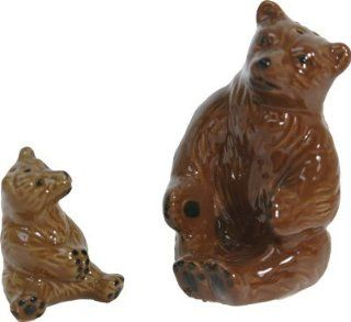 Ceramic Mama Bear with Baby Bear Salt and Pepper Shakers #522 : Other Products : Everything Else