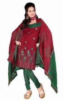 Triveni Fancy Embroidered Salwar kameez With Dupatta   509: World Apparel: Clothing