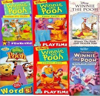 winnie the pooh set 6 vhs The Book of Pooh   Fun With Words, Tigger Too, Winnie the Pooh Cowboy Pooh, Winnie the Pooh Pooh Party, Winnie the Pooh Tigger Ific Tales (Clam), Winnie the Pooh 7 King of Beasties Movies & TV