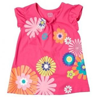 Carters Girls 12 24 Months Pink Floral Tunic (24 Months, Pink) Infant And Toddler Blouses Clothing