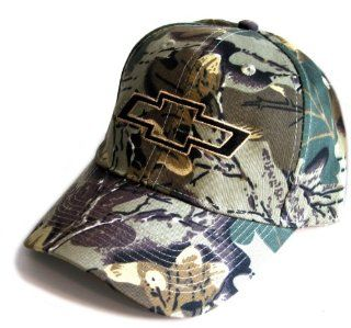 Chevy Chevrolet Camo Camouflage Bowtie Hat Cap Camouflage Pattern Varies (Apparel Clothing): Automotive