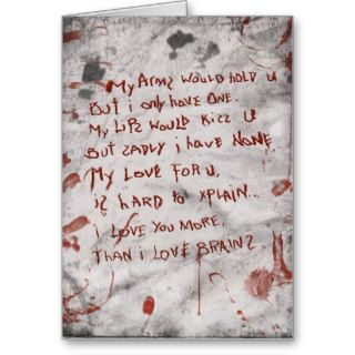 zombie valentines day greeting cards