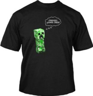 Jinx Official Licensed Minecraft Creepers Gonna Creep boys T shirt Novelty T Shirts Clothing