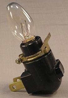 Black Nightlight Fixture Base with Clip and 4 Watt Bulb (Night Light)