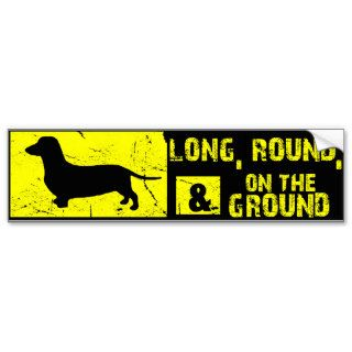 Dachshund Funny Wiener Dog Bumper Sticker
