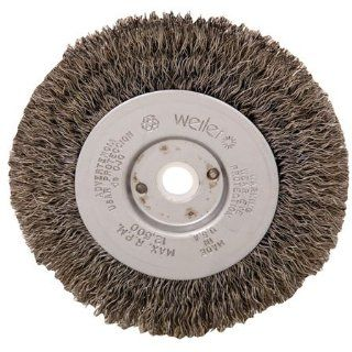 "4"" dia. x 1/2"" wide, .0118"" dia. Wire, 1/2 3/8"" Arbor Hole, Weiler Crimped Wire Wheel Brush (1 Each): Industrial Abrasive Products: Industrial & Scientific"